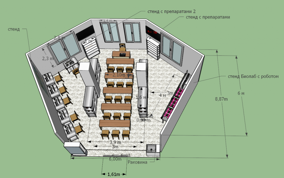 План лаборатории в БГАУ от БашИкома