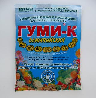 ОЛИМПИЙСКИЙ ГУМИ–К, Калийный НАНО–ГЕЛЬ – 300 г