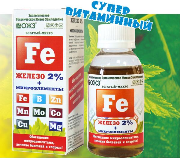БОГАТЫЙ–МИКРО Железо (Fe) 2% + микроэлементы – 100 мл