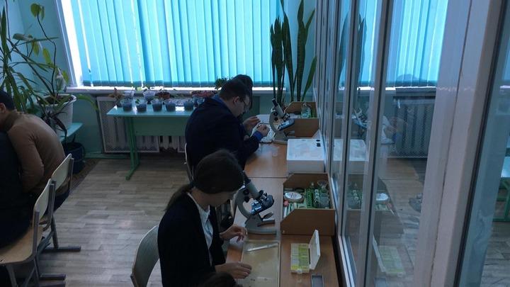 Новый кабинет биологии